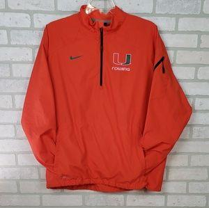 Nike Men's Storm-Fit Miami Rowing Jacket Orange LG